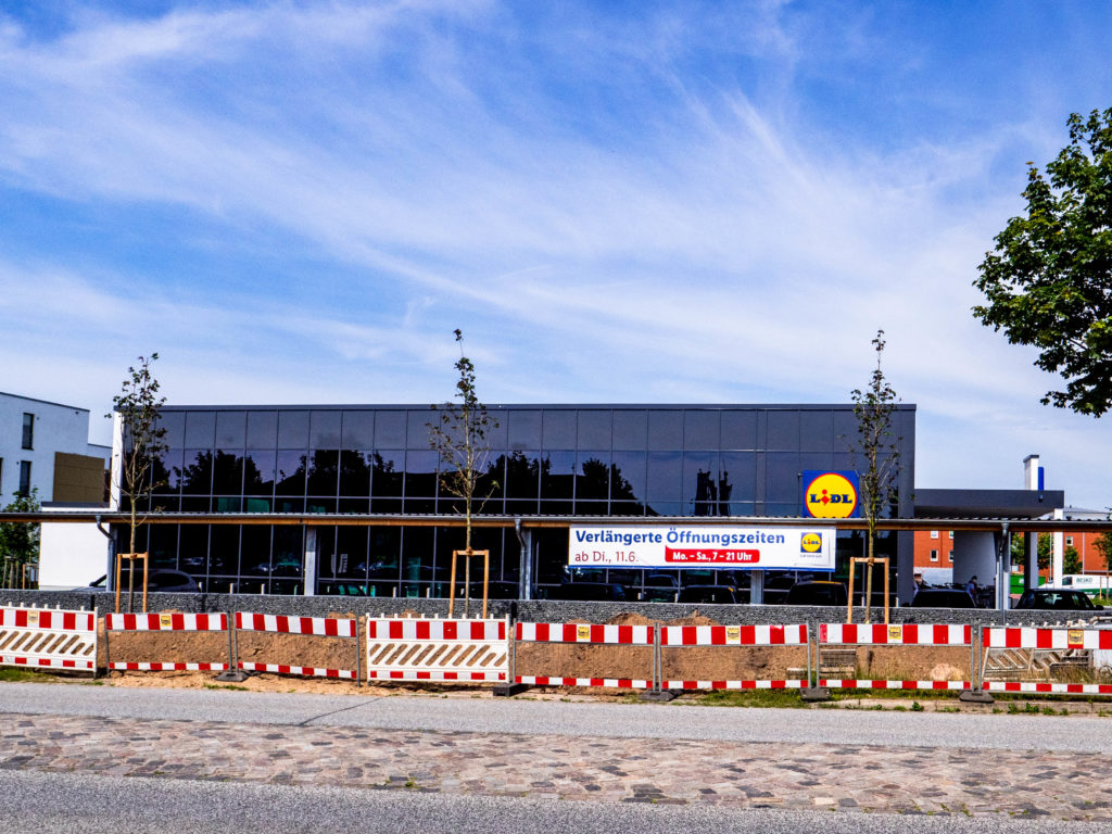 Lidl-Markt, Hollerstrasse / Konrad-Adenauer-Strasse, Büdelsdorf - Neubau