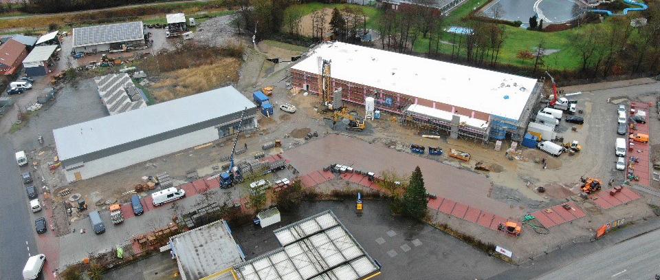 Neubau von Gewerbeflächen, Lidl-Markt / dm-Markt, Altentreptower Strasse, Meldorf