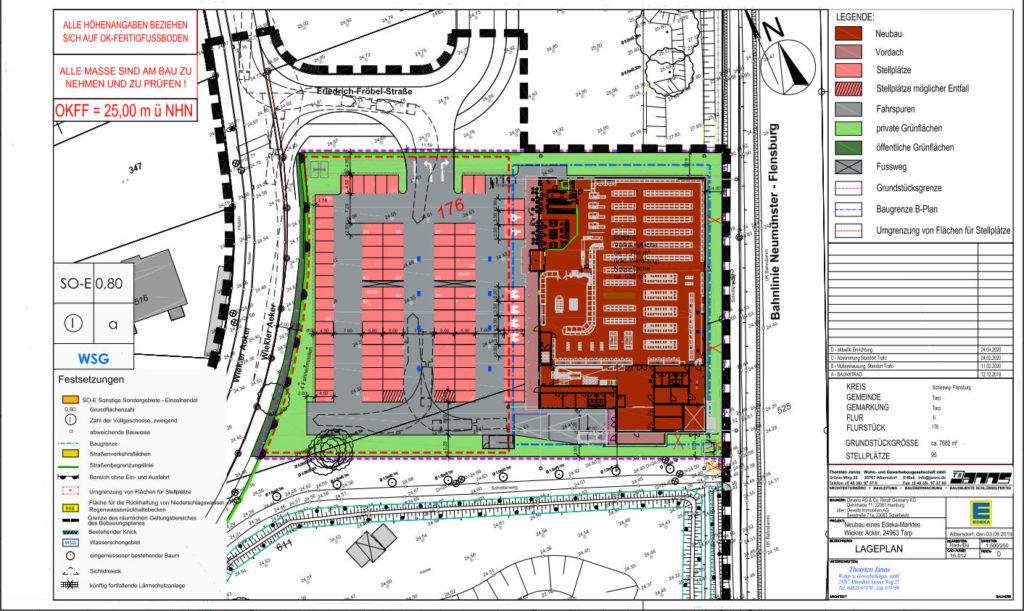 Neubau eines Edeka-Marktes, Friedrich-Fröbel-Strasse, 24963 Tarp